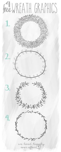 4 Free Wreath Graphics