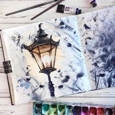 watercolor art by @_alenaponkratova_ painting, drawing, art #sketch
