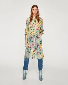 LONG FLORAL PRINT SHIRT-View all-TOPS-WOMAN-COLLECTION AW/17 | ZARA United States