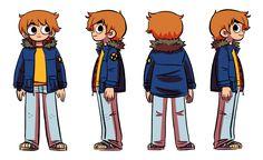 "Bryan Lee O'Malley is the cartoonist behind ""Scott Pilgrim"", etc. Character Model Sheet, Character Modeling, Character Concept, Character Art, Comic Kunst, Comic Art, Scott Pilgrim Movie, Bryan Lee O Malley, Character Turnaround"