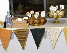 steampunk party dinner decorating ideas- bunting