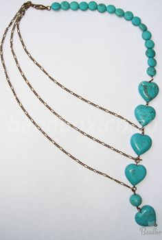 FREE Tutorial: Antique Inspired Necklace Get your DIY Kit & make it yourself Turquoise Stone, Diy Kits, Stone Necklace, Turquoise Necklace, Beaded Jewelry, Tutorials, Jewels, Inspired, Chain