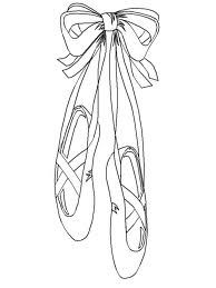 ballet coloring pages - Google Search - Ballet shoes