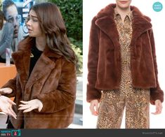 Haley Dunphy Fashion on Modern Family Modern Family Sarah Hyland, Modern Family Haley, Modern Family Episodes, Faux Fur Jacket, Fur Coat, Baby Steps, Other Outfits, Fashion Outfits, Brown