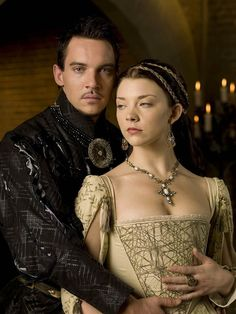 Anne Boleyn (Natalie Dormer) and Henry VIII (Jonathan Rhys Meyers). From The Tudors