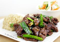 Mongolian Beef.  In less than 15 minutes, you can make this at-home version of the popular takeout at home.  It's healthier and tastes just as delicious.