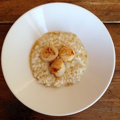 Lobster risotto with scallops