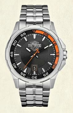 Harley-Davidson® Men's Bulova Dashboard Watch with Calendar
