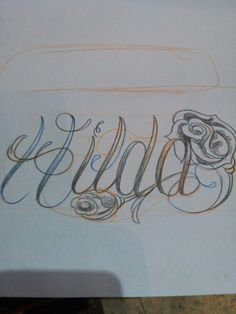 Name tattoo Hilda