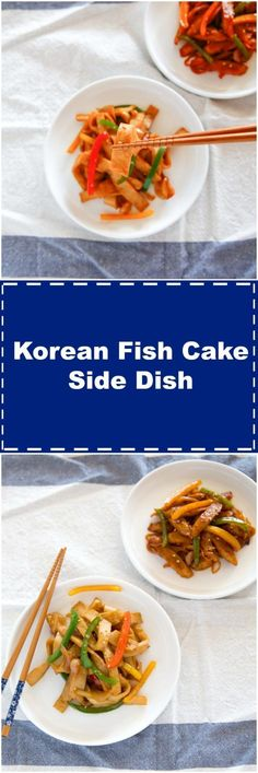 How to make Korean fish cake side dish.  Choose between the spicy and non-spicy version! | MyKoreanKitchen.com