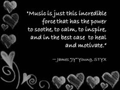 Perfectly said by a member of my favorite band. Let the beats motivate you out of your seat and inspire you to keep moving while the mood changing sounds of your favorite songs enable a personal escape or joyful dance. .
