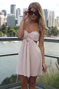 STRAPLESS CUTOUT DRESS , DRESSES,,Minis Australia, Queensland, Brisbane