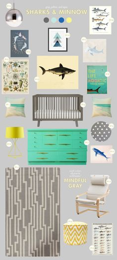 sharks & minnow  nursery theme from Lay Baby Lay....l love this!!
