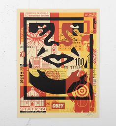 """Entitled """"Obey 3 face collage"""" ( this print by Shepard Fairey (Obey) is an open edition. Made in it is signed by the artist. Format : 18 x 24 inches x 61 cm). The work is sold unframed. Shepard Fairey Obey, Face Collage, 60s Art, Make Art, How To Make, Selling Art Online, Artwork Prints, Online Art Gallery, Google"""
