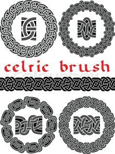 Stock vector of 'celtic brush for  design seamless vector'