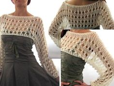 josettacay: I have found so many cute dresses without sleeves, and I like to wear something with sleeves over them. I think this is ideal for that. Mode Crochet, Diy Crochet, Easy Crochet Patterns, Crochet Brooch, Crochet Shawl, Altering Clothes, Crochet Crop Top, Crochet Fashion, Crochet Clothes