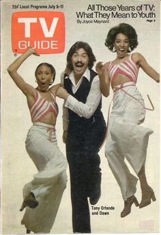 Tony Orlando and Dawn. Have to admit I liked this show. Just tie a yellow ribbon around that!