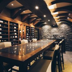 The Wine Cellar at The Royal Yacht | Perfect for private dining or wine tasting #privateyacht