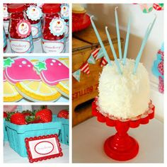 Strawberry Lemonade Party Ideas {Real Parties}