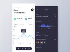 Transactions mobile by Asish Sunny on Dribbble