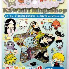 (I so want these!) Crux Obake Zohan sticker flake sack kawaii