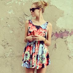 New post: http://www.theblondesalad.com/2012/05/roses-dress.html #chiaraferragni #theblondesalad - @Chiara Ferragni- #webstagram