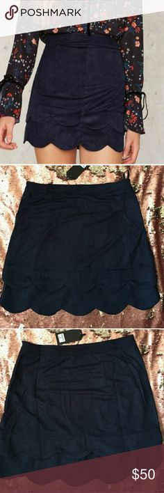 Nasty Gal Skirt Never been Worn navy very beautiful skirt Nasty Gal Skirts Mini