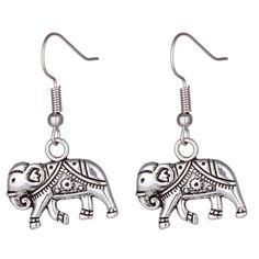 Vintage silver elephant drop earrings Brand new with tags✨elephant loversexpect fast shipping  not Lf, only for exposure Any questions please ask please check out my other listings✨ 10% off on bundles buy more  save more  Empathylove Jewelry Earrings