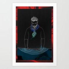 Into subconsciousness Art Print by edgarparker Framed Art Prints, Canvas Prints, Iphone Skins, Buy Frames, Wood Wall Art, Printing Process, Gallery Wall, Batman, Artist