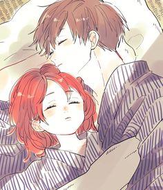 Anime Couples Drawings, Anime Couples Manga, Cute Anime Couples, Manga Anime, Anime Couples Sleeping, Manga Couple, Anime Love Couple, Gintama, Arte Indie