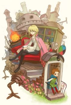 Howl's Moving Castle :D - Anime Hayao Miyazaki, Howl's Moving Castle, Studio Ghibli Art, Studio Ghibli Movies, Film Animation Japonais, Chibi, Howl And Sophie, The Cat Returns, Manga Anime