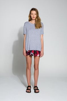 The Building Blocks T-Shirt is a casual tee with a round neckline and a loose fit.