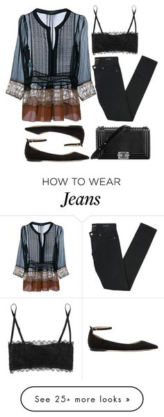 """""""Pictures gonna fade but this song will play on and on..."""" by marabellax on Polyvore featuring Alberta Ferretti, Eres, Yves Saint Laurent, Jimmy Choo and Chanel"""
