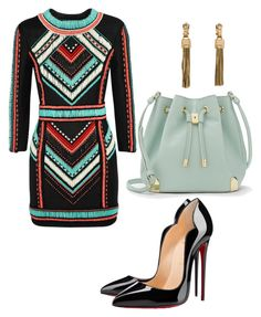 Untitled #30 by whitleslie on Polyvore featuring polyvore, fashion, style, Balmain, Christian Louboutin, Vince Camuto, Lanvin and clothing
