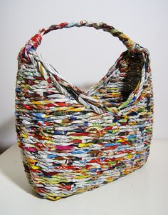 newspaper basket bag paperwicker