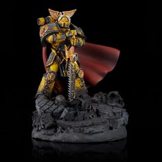 Finishing your own army is core to the Warhammer hobby. In our Army Showcase series, Goonhammer contributors take a look at the armies we've been collecting for years, and the new ones we've… Warhammer Models, Warhammer 40000, Warhammer Paint, History And Heraldry, Gold Armor, Imperial Fist, Color Test, Tyranids, Big Yellow