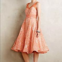 Anthropologie Moulinette Soeurs 4 Calendula dress Worn once to a wedding and just back from the dry cleaners, gorgeous! Anthropologie Dresses