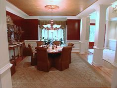 7Piece Black Dining Set Prepossessing Red Wall Dining Room 2018
