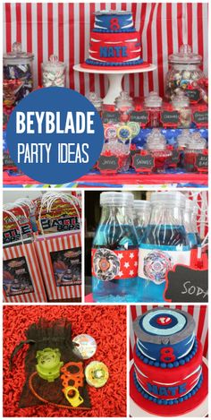 A Beyblade tournament for a kids birthday party with a fun cake and party favors! A Beyblade tournament for a kids birthday party with a fun cake and party favors! Birthday Party Images, 18th Birthday Party Themes, Party Themes For Boys, Birthday Party Favors, Birthday Party Decorations, Boy Birthday, Birthday Cake, Party Party, Birthday Ideas