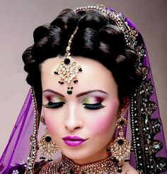 Bollywood make up is so perfected!  Even her lips are contoured!