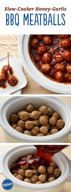 Slow-Cooker Honey-Garlic BBQ Meatballs: We've taken one of the easiest party appetizers and amped them up with honey and garlic.