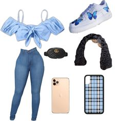 Baddie Outfits Casual, Swag Outfits For Girls, Cute Teen Outfits, Teenage Girl Outfits, Cute Comfy Outfits, Girls Fashion Clothes, Teen Fashion Outfits, Look Fashion, Dope Outfits