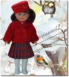 Vêtement MODES ET TRAVAUX septembre 1951, poupée 40 cm Marie-Françoise et autres  ❤ Marie-Françoise ❤ en veste et chapeau toque Modes et Travaux - septembre 1951: 22,90 EUR