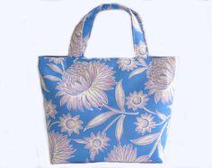 Women's Handbag, Tote Bag, Handmade Bag, Contains Pocket & Magnetic Button Closure, Blue and Purple Floral, Ladies Tote Bag, Blue Handbag by RachelMadeBoutique on Etsy https://www.etsy.com/au/listing/532136321/womens-handbag-tote-bag-handmade-bag