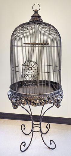 Bronze Imperial Birdcage Parrot Bird Cage