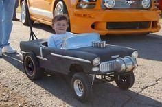 custom pedal car gasser...a 55 at that, soooo coool!