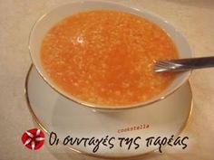 Great recipe for Trahanas soup with tomato. Trahana cooked with tomatoes, a dish that is perfect for cold winter days. Recipe by ξωτικουλι Greek Cooking, Winter Day, Greek Recipes, Soups And Stews, Food Pictures, Tapas, Recipies, Food And Drink, Stuffed Peppers
