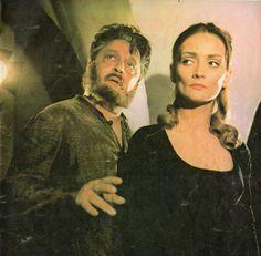 "Romanian actors Elisabeta Jar and Florin Scărlătescu in a movie ""Răzbunarea Haiducilor"" [The Revenge of the Outlaws]. Pinup from ""Cinema"" magazine (July Golden Age, Revenge, Pinup, Cinema, Jar, Icons, Memories, Magazine, Movie"