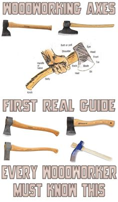 The first and only guide through woodworking axes! Learn all about types of woodworking axes and their usage!