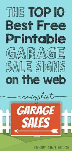 41 Best Free Garage Sale Printables images in 2019 | For sale sign